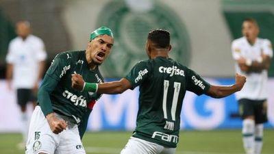 Gómez, figura y goleador en el empate de Palmeiras por Copa de Brasil