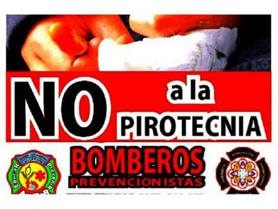 Bomberos de Bella Vista hacen campaña contra la pirotecnia