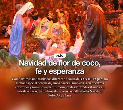 Navidad no es solo de flor de coco sino de fe y esperanza