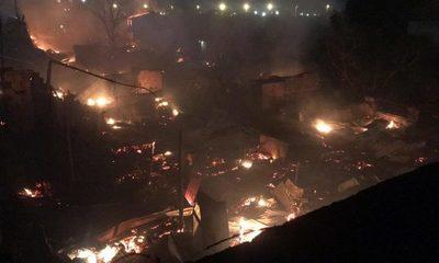 Tras incendio en la Chacarita asisten a más de 100 familias que irán a albergues