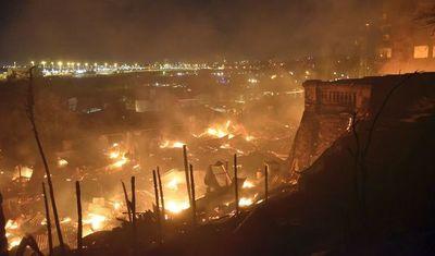 Santa llegó a la Chacarita tras el incendio que enlutó la Nochebuena