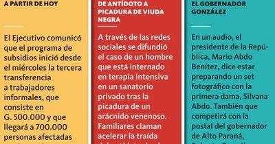 La Nación / Las tres noticias más leídas de la semana
