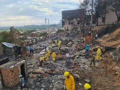 Pretenden reubicar de forma definitiva a familias de Chacarita afectadas por incendio
