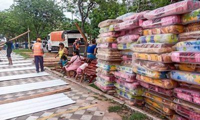 Asisten a 96 familias afectadas en la Chacarita