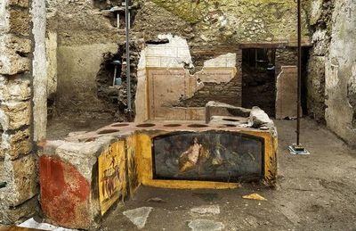 """Pompeya: Descubren intacta una """"tienda de comidas rápidas"""" del año 79 a.C"""