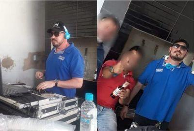 Dj envuelto en escándalo de médicos sin tapabocas en otra farra en Pedro Juan Caballero