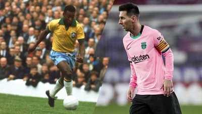 Para el Santos, Lionel Messi aún no ha superado el récord de Pelé