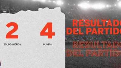 De visitante Olimpia goleó a Sol de América con un contundente 4 a 2