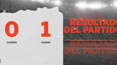 A Guaraní no le sobró nada, pero venció a Guaireña en su casa por 1 a 0