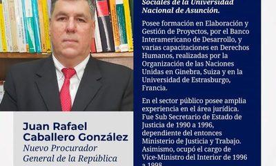 Juan Rafael Caballero  nuevo procurador