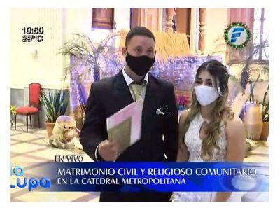 Cuatro hermanos se casaron en misma boda comunitaria