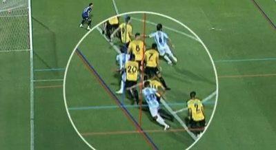 El polémico off side que anuló el gol de Guaireña