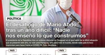 La Nación / LN PM: Las noticias más relevantes de la siesta del 28 de diciembre
