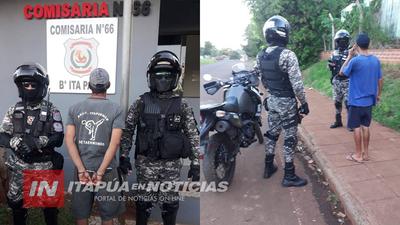 LINCES REALIZARON OPERATIVO DE SEGURIDAD EN ITÁ PASO