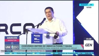 HOY / Convenio entre HC Innovations y el Banco Basa, permitirá financiamiento para adquirir dispositivo ORCAM