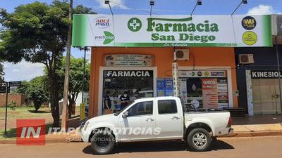 ASALTO EN FARMACIA SAN DIEGO DE MARIA AUXILIADORA