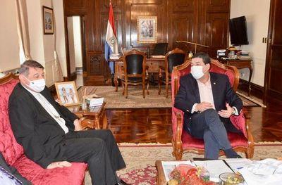 Obispo de Caacupé se reunió con vicepresidente de la República