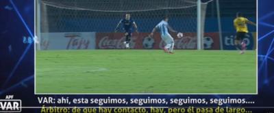 Audio VAR: 'se tira, se tira' y 'le queda largo el balón', dice Díaz de Vivar
