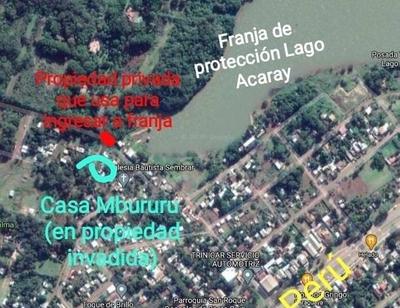 HOY / Nuevas acusaciones en contra de Mbururu por invasiones en la costa del Lago Acaray