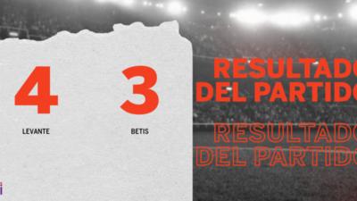 Con doblete de José Luis Morales, Levante derrotó a Betis