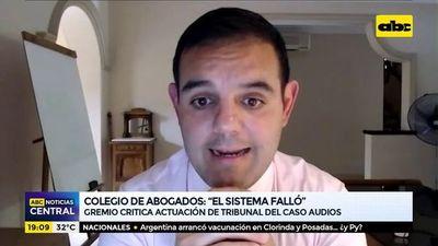 Caso Audios: Gremio de abogados critica actuación del Tribunal