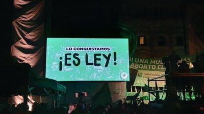 Aborto ya es legal en Argentina