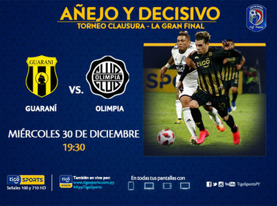 Guaraní y Olimpia definen al nuevo campeón