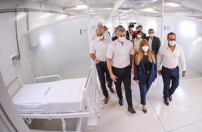 Paraguay inaugura noveno pabellón de contingencia y cierra el año con 546 camas para pacientes con covid