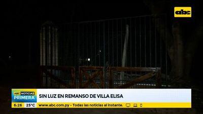 Sin luz en Remanso, Villa Elisa
