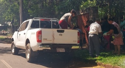 Repatriación: Utilizan vehículo del MAG para trasladar personas en el Registro Electoral