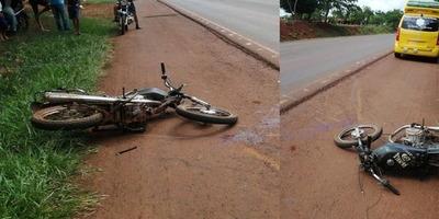MOTOCICLISTA SUFRE ACCIDENTE EN RUTA N° 6 EN TOMAS R. PEREIRA.
