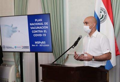 Mazzoleni dio a conocer fases de proceso de vacunación en el país