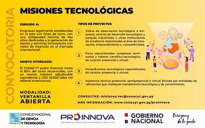 Conacyt reactiva línea de apoyo que financiará misiones tecnológicas para fortalecimiento de empresas