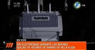 Vecinos denuncian estar sin energía eléctrica hace tres días