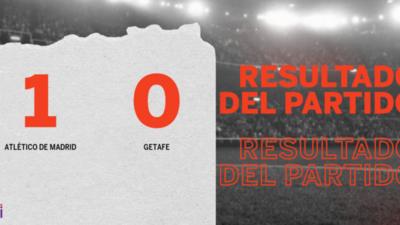 A Atlético de Madrid le alcanzó con un gol para derrotar a Getafe en el Metropolitano