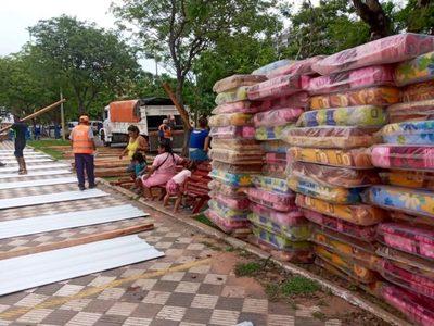 Tras incendio, familias chacariteñas solicitan viviendas dignas al Gobierno