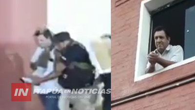 FISCAL ORDENÓ QUE POLICÍA SAQUE A RODRÍGUEZ DE LA OFICINA MUNICIPAL
