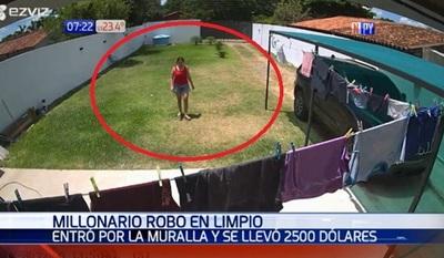 Denuncian robo de USD 2.500 de una vivienda en Limpio