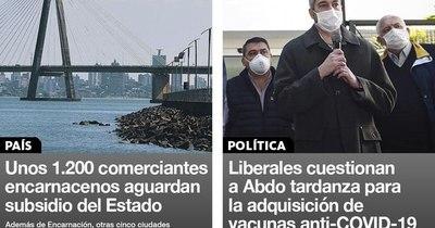 La Nación / Destacados de la mañana del 31 de diciembre