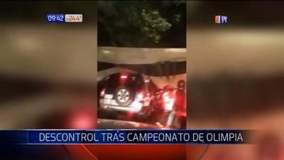 Descontrol en festejos tras campeonato obtenido por Olimpia