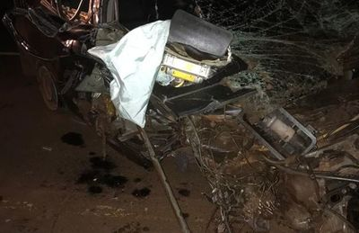Itakyry: choque entre camión y automóvil deja heridos graves