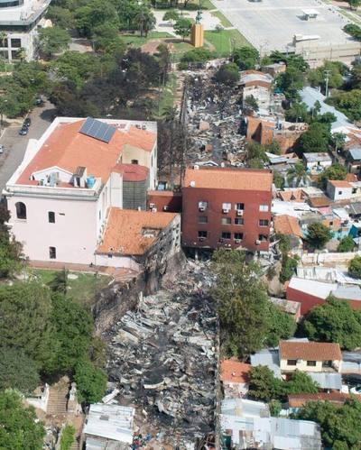 Damnificados por incendio en Chacarita serán reinstalados en la zona