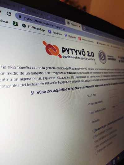 Tercer pago del subsidio Pytyvõ 2.0 benefició a más de 680.000 personas