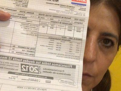 Tana Schémbori denuncia sobrefacturación de la ANDE
