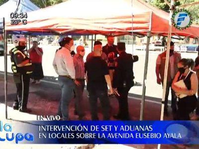 Verifican a comerciantes sobre Eusebio Ayala