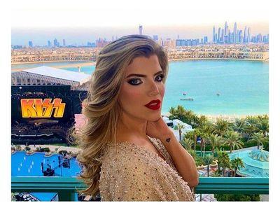 Sol Cartes y su esposo recibieron el 2021 en Dubái