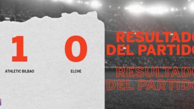 A Athletic Bilbao le alcanzó con un gol para derrotar a Elche en la Catedral