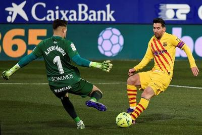 Barcelona reacciona en Huesca