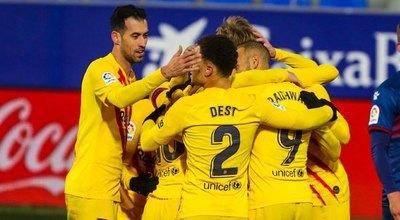 Barcelona se reactiva derrotando al Huesca