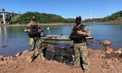 Incautan mercaderías a orillas del Paraná